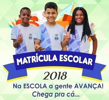 MATRÍCULAS PARA O ANO LETIVO DE 2018 JÁ ESTÃO REABERTAS NA REDE MUNICIPAL